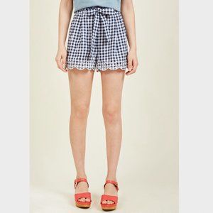 NWT ModCloth Blu Pepper Gingham Shorts